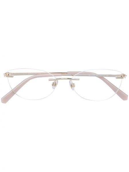 Очки кошачий глаз металлические Swarovski Eyewear
