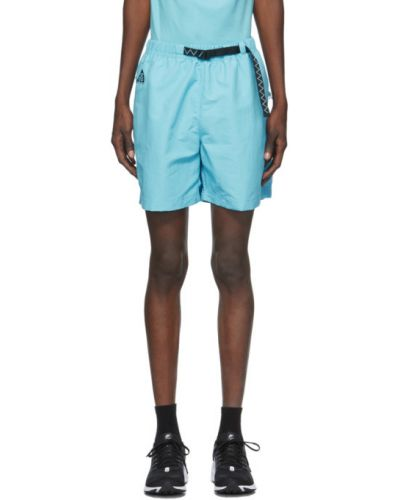 Czarne szorty z haftem z paskiem Nike Acg