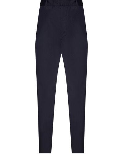 Прямые брюки с карманами с поясом Prada