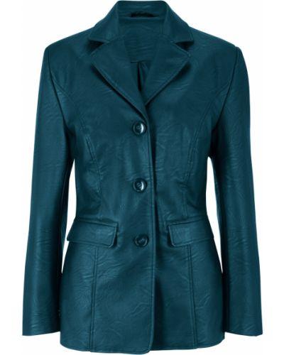 Зеленый модный кожаный пиджак Bonprix