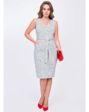 Летнее платье на молнии с карманами без рукавов с вырезом Diolche