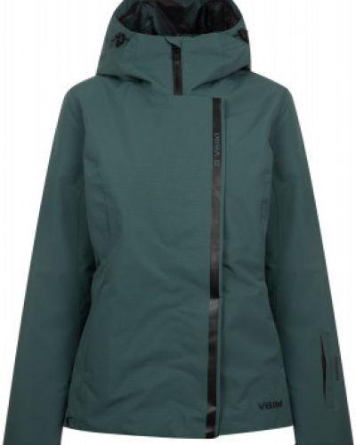 Теплая приталенная зеленая утепленная куртка VÖlkl