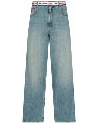 Mom jeans - niebieskie Balenciaga