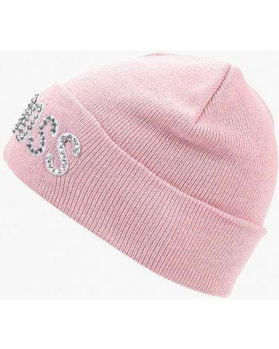 Розовая шапка осенняя Guess