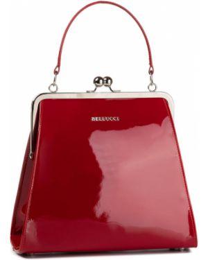 Czerwona klasyczna torebka Bellucci