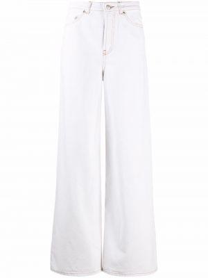 Белые хлопковые брюки Ba&sh