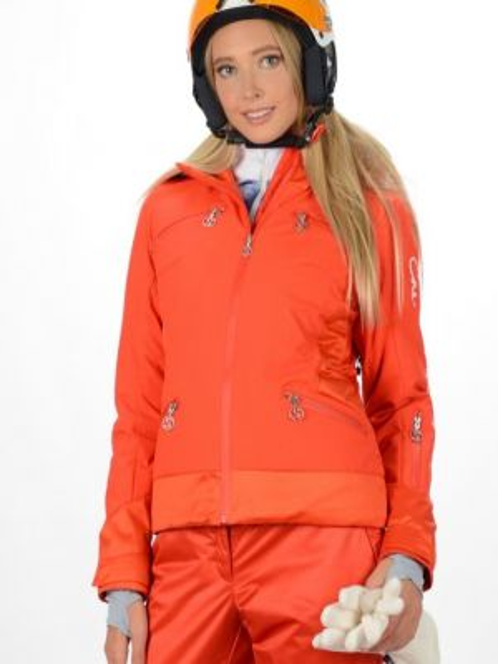 Куртка горнолыжная с капюшоном - красная Stayer