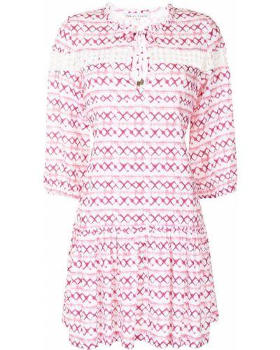 Кружевное платье мини - розовое Heidi Klein