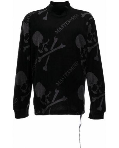 Czarna bluza z nadrukiem z printem Mastermind World