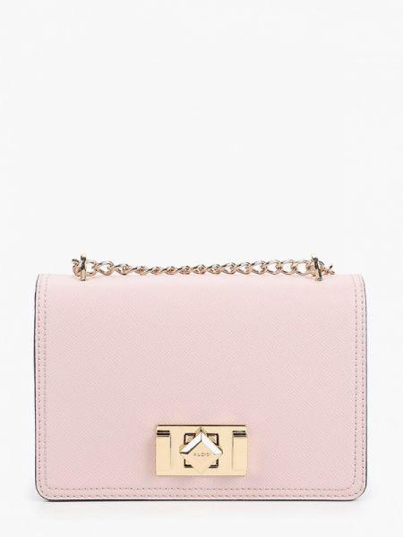 Кожаная сумка через плечо розовый Aldo