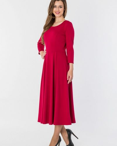 Повседневное платье бордовый красный S&a Style