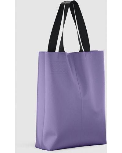 Кожаная сумка шоппер - фиолетовая Ecco
