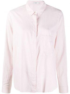 Розовая с рукавами классическая рубашка в полоску Closed
