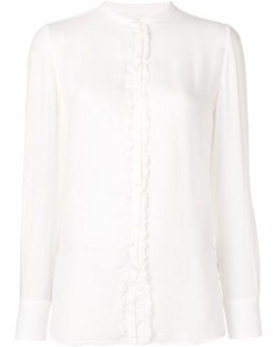 Блузка с длинным рукавом с рюшами с манжетами Massimo Alba
