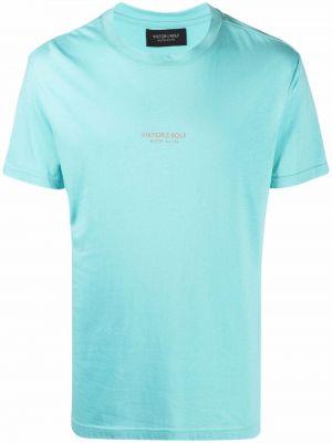 Niebieska t-shirt bawełniana Viktor & Rolf