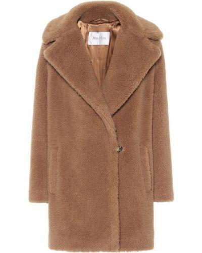 Коричневое шерстяное укороченное пальто Max Mara