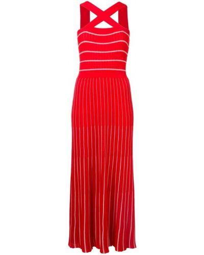 Трикотажное платье макси - белое Sonia Rykiel