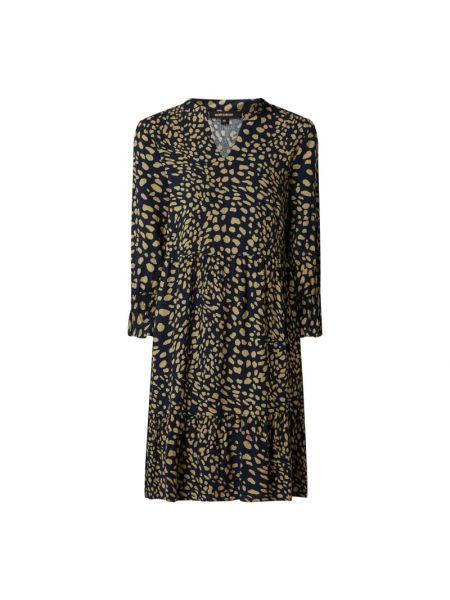 Sukienka rozkloszowana z falbanami - niebieska More & More