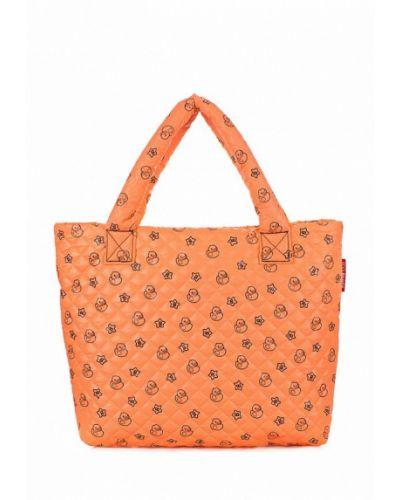 Оранжевая сумка шоппер Poolparty