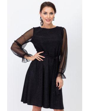 Вечернее платье длинное - черное Taiga