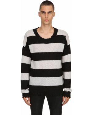 Czarny sweter wełniany w paski Garçons Infideles