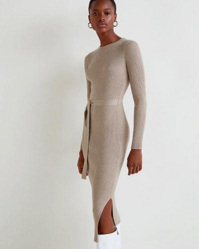 Вязаное платье осеннее трикотажное Mango