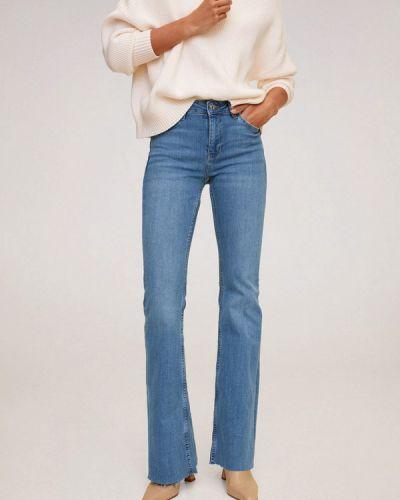 Синие расклешенные джинсы свободного кроя Mango