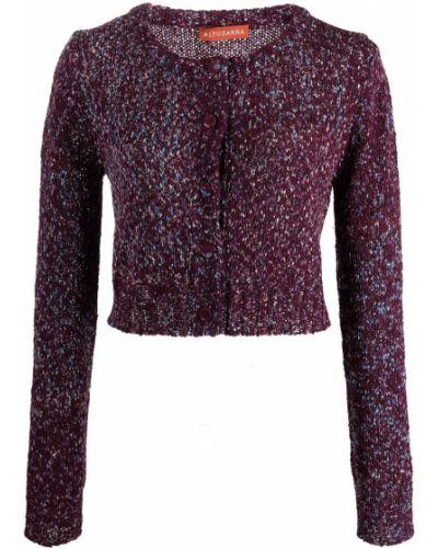 Fioletowy sweter w kwiaty Altuzarra