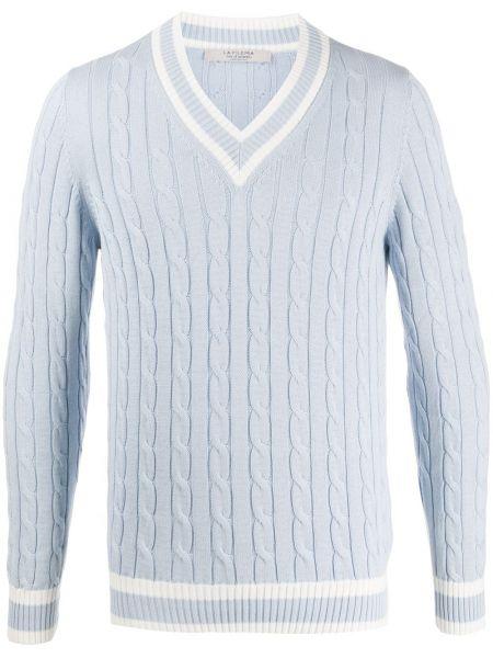 Синий свитер с вырезом La Fileria For D'aniello