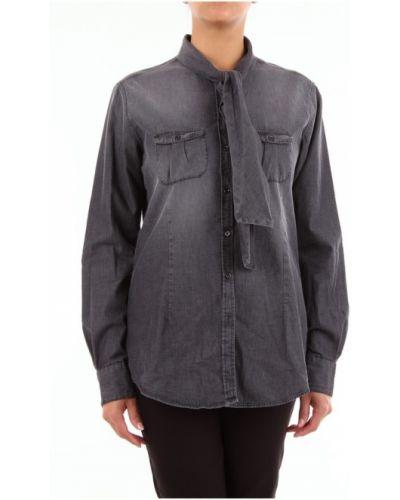 Czarna koszula jeansowa Aglini