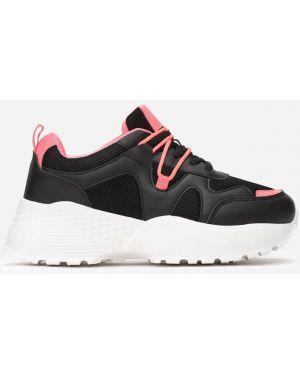 Czarne sneakersy materiałowe Multu