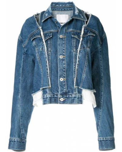 Синяя джинсовая куртка на пуговицах с манжетами Ground Zero