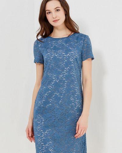 Платье осеннее синее Femme