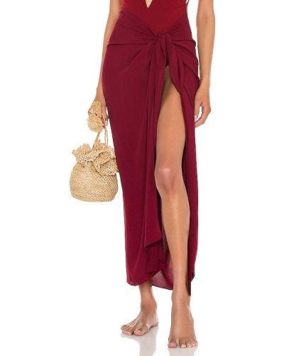Костюмная красная юбка из вискозы Haight