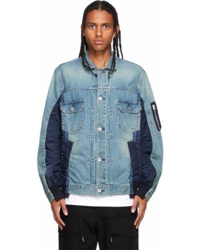 Niebieskie jeansy Sacai