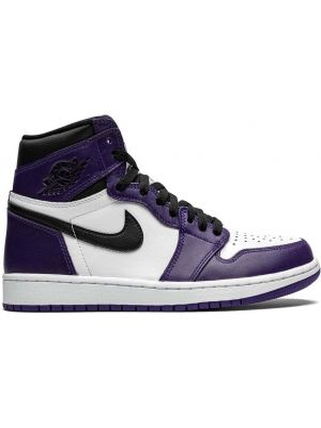 Фиолетовые высокие кроссовки с перфорацией с нашивками винтажные Jordan