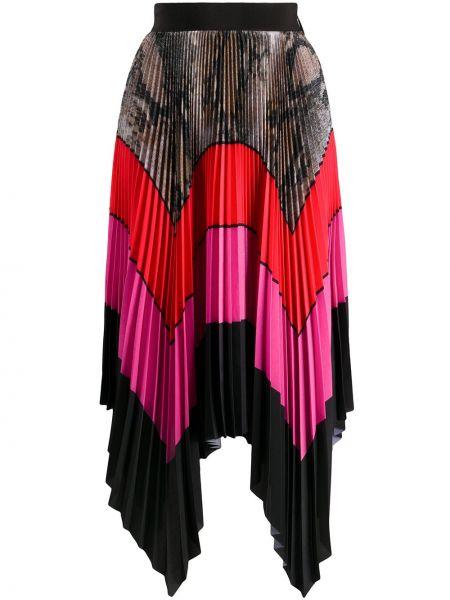 Плиссированная юбка с завышенной талией макси Msgm