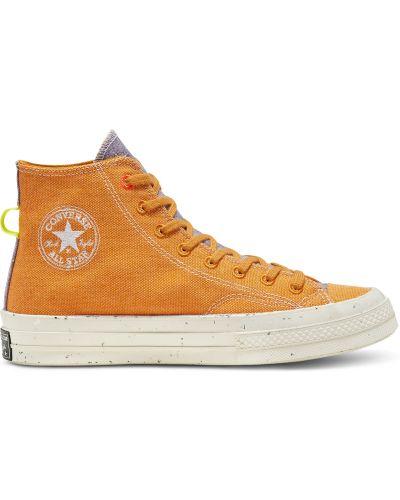 Оранжевый хлопковый топ Converse