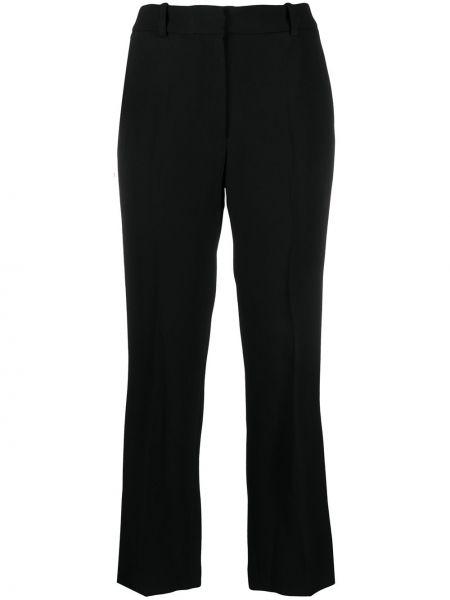 С завышенной талией черные укороченные брюки с карманами Joseph
