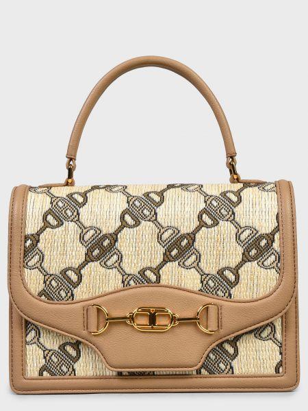 Кожаная сумка - коричневая Elisabetta Franchi