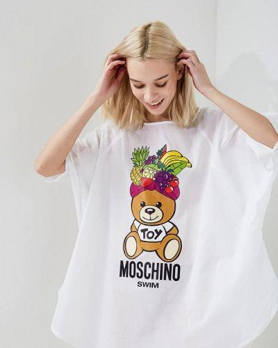 Белая пляжная туника Moschino