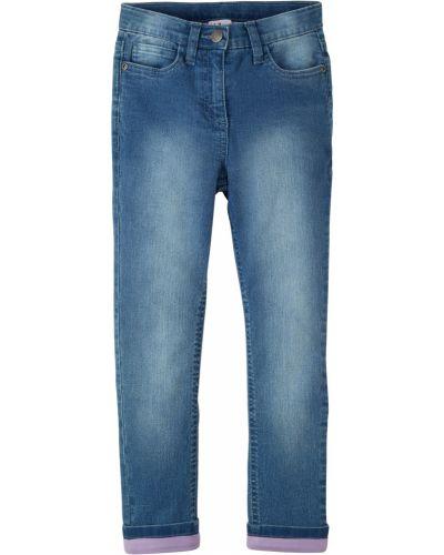 Синие джинсы с подкладкой с отворотом Bonprix