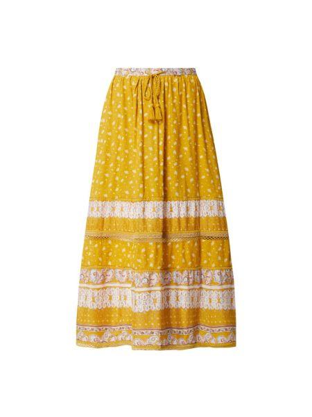Długa spódnica z wiskozy - żółta Superdry