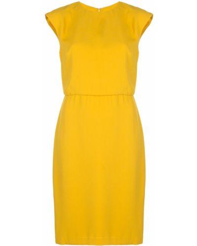 Платье с заниженной талией из крепа Halston Heritage