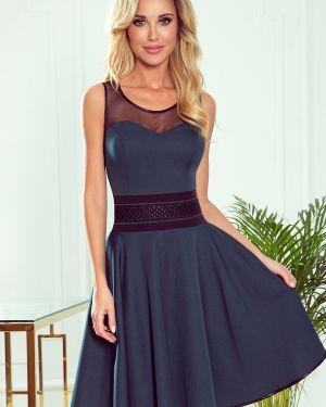 Czarna sukienka rozkloszowana tiulowa Numoco