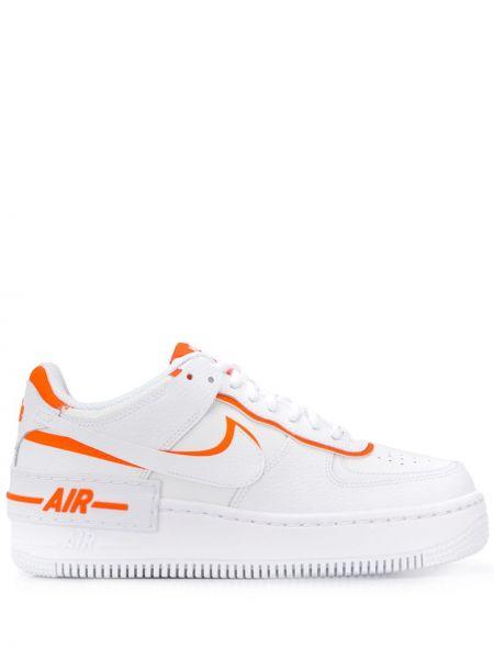 Кожаные кроссовки с перфорацией с логотипом Nike