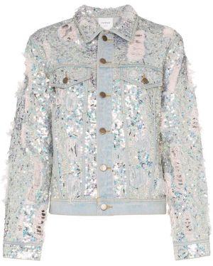 Джинсовая куртка с камнями Ashish