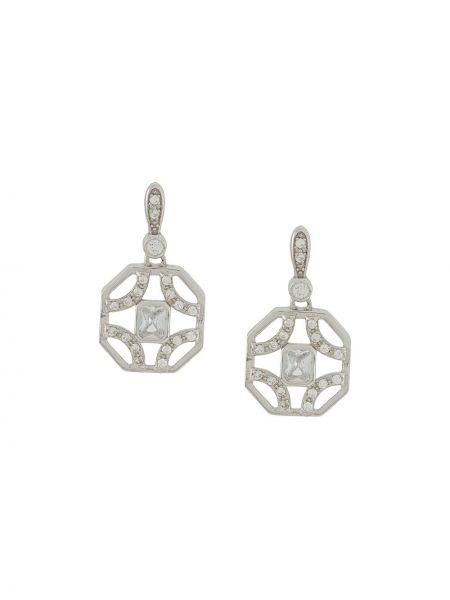 Серебряные серебряные серьги с подвесками на кнопках V By Laura Vann