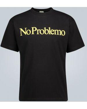 Koszula z nadrukiem czarna Aries