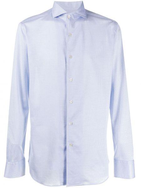 Koszula z długim rękawem w paski z paskami Canali